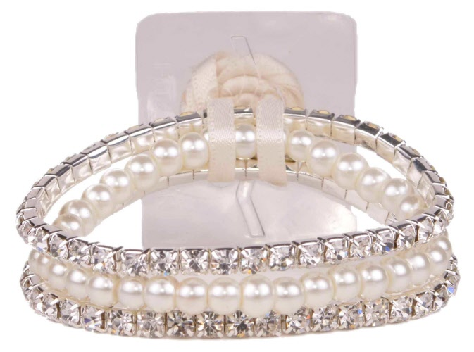 (3 Packages) Sarina Flower Bracelet-Champagne | SA1211